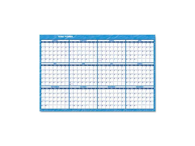 "AT-A-GLANCE PM300-28 Recycled Horizontal Erasable Wall Planner, 48"" x 32"""