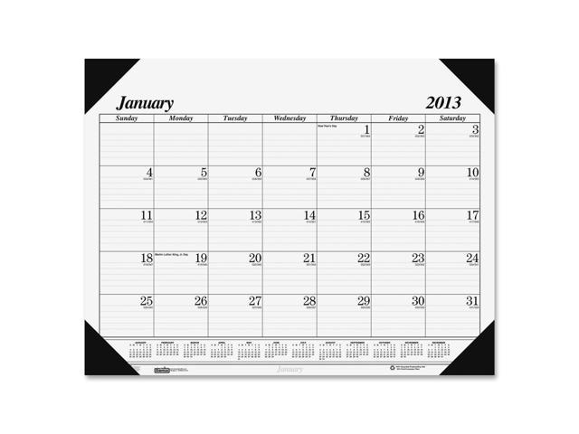 House of Doolittle 0124 Workstation-Size One-Color Monthly Desk Pad Calendar, 18-1/2 x 13