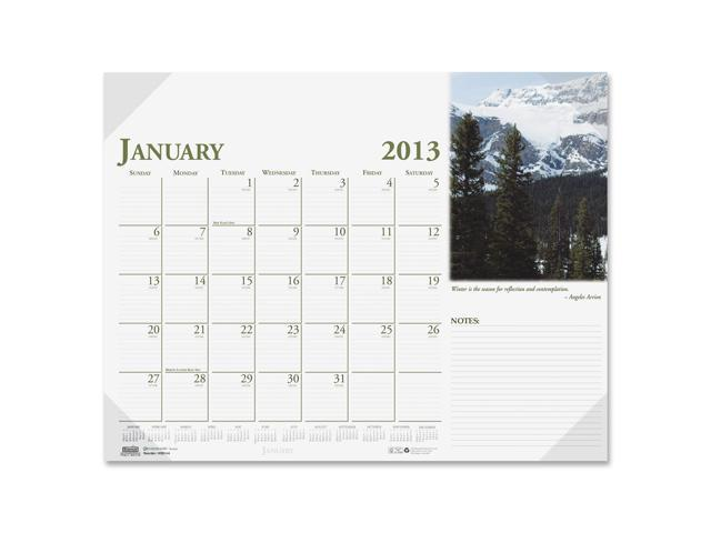 House of Doolittle 0144 Earthscapes Photographic Monthly Desk Pad Calendar, 18-1/2 x 13