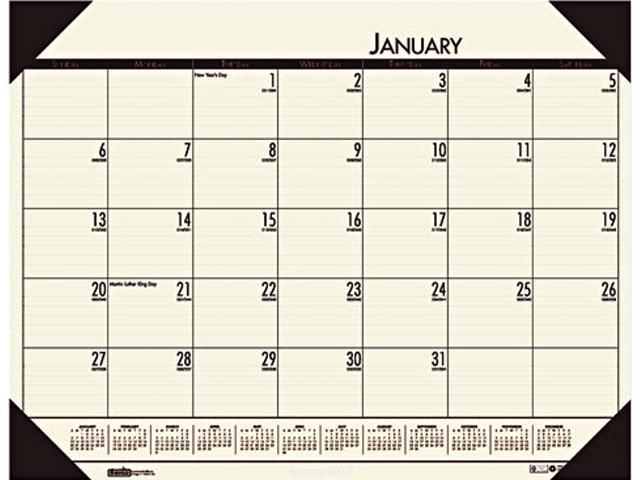 House of Doolittle 12443 - EcoTones Desert Tan Monthly Desk Pad Calendar, 22 x 17, 2016