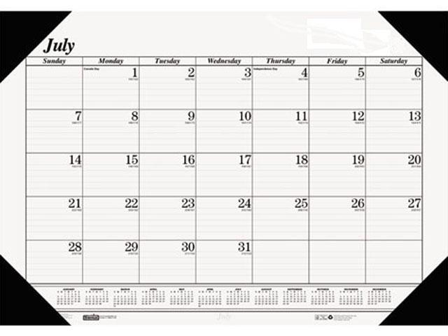 House Of Doolittle 125-02 Economy 14-Month Academic Desk Pad Calendar, 22 x 17