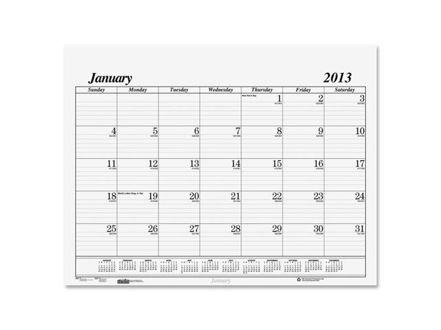 House of Doolittle 126 One-Color Dated Monthly Desk Pad Calendar Refill, 22w x 17h