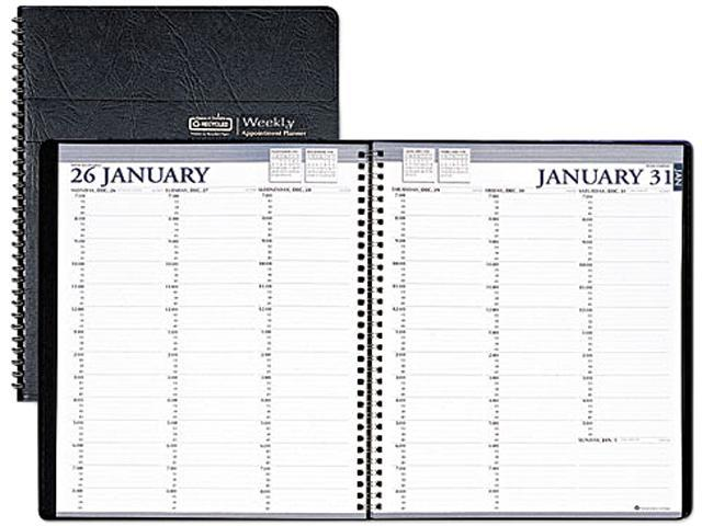 House of Doolittle 272-02 Professional Weekly Planner, 15-Minute Appointments, 8-1/2 x 11, Black