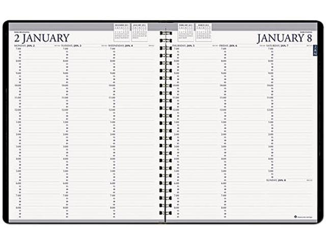 House of Doolittle 272-92 Professional Hardcover Weekly Planner, 15-Minute Appointments, 8-1/2 x 11, Black