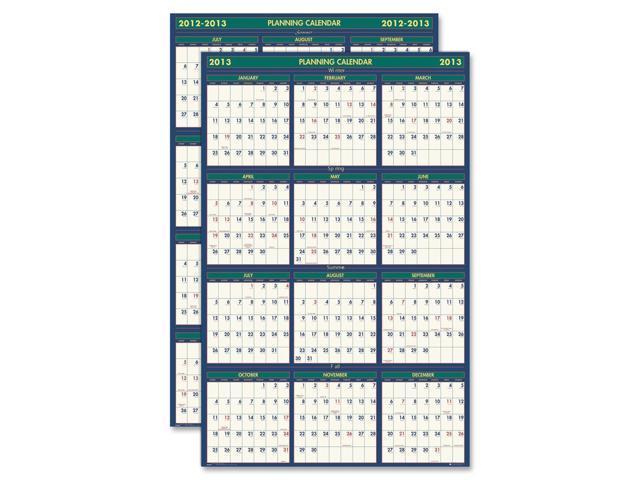 House of Doolittle 391 Four Seasons Reversible/Erasable Business/Academic Year Wall Calendar, 24 x 37