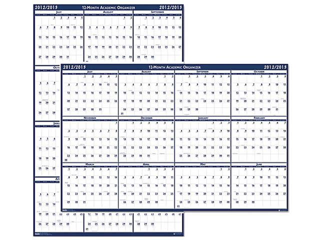 House of Doolittle 395 Poster Style Reversible/Erasable Academic Yearly Wall Calendar, 24 x 37