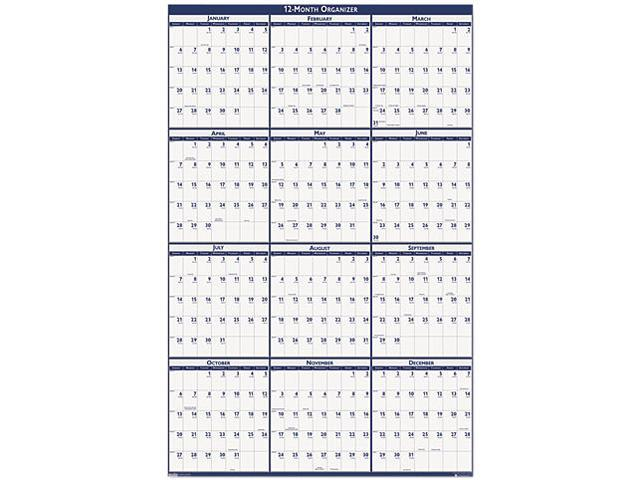 House Of Doolittle 3961 Poster Style Reversible/Erasable Yearly Wall Calendar, 32 x 48
