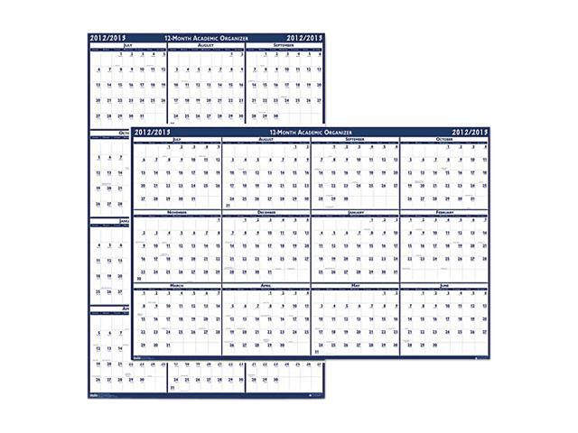 House of Doolittle 3965 Poster Style Reversible/Erasable Yearly Wall Calendar, 18 x 24