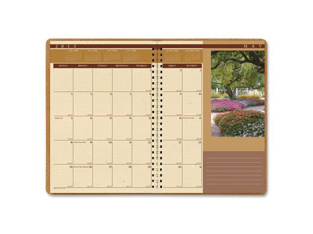 House of Doolittle 523 Landscapes Full-Color Monthly Planner, Ruled, 7 x 10, Brown