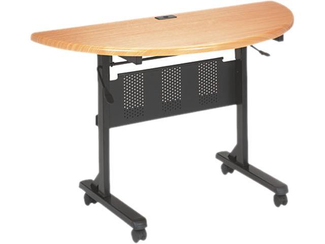 BALT 89773 Flipper Training Table, Half-Round, 48w x 24d x 29-1/2h, Teak