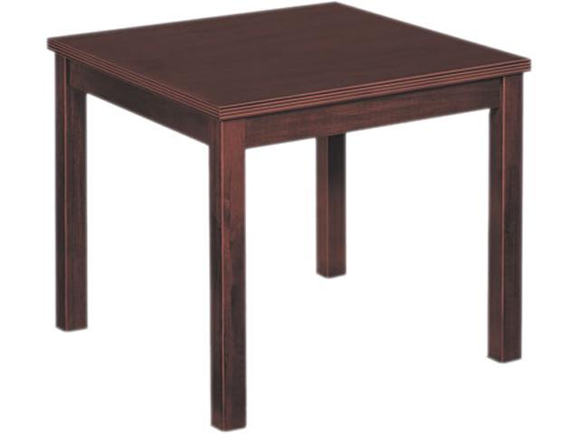 basyx BW3130N Occasional Table, Square, 24w x 24d x 20h, Mahogany