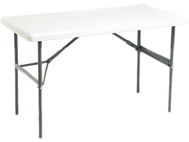 Iceberg 65203 IndestrucTable TOO 1200 Series Resin Folding Table, 48w x 24d x 29h, Platinum