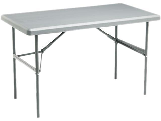 Iceberg 65207 IndestrucTable TOO 1200 Series Resin Folding Table, 48w x 24d x 29h, Charcoal