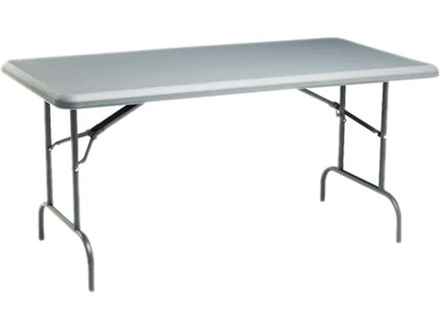 Iceberg 65217 IndestrucTable TOO 1200 Series Resin Folding Table, 60w x 30d x 29h, Charcoal