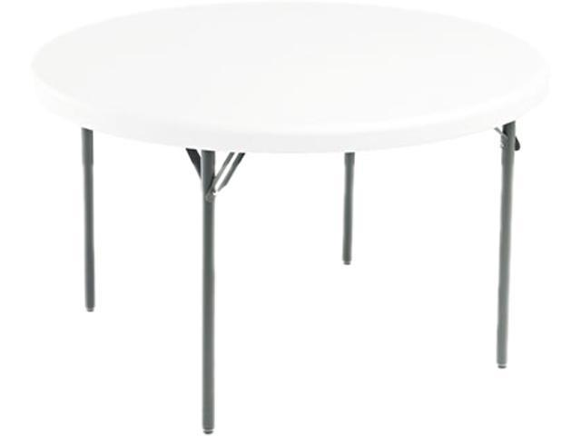 Iceberg 65243 IndestrucTable TOO 1200 Series Resin Folding Table, 48 dia x 29h, Platinum