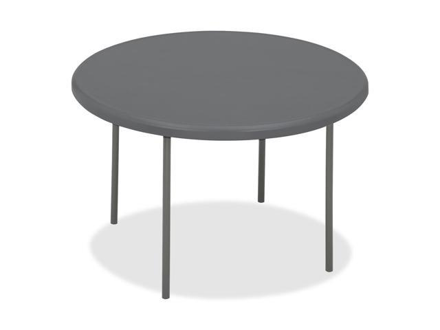 Iceberg 65247 IndestrucTable TOO 1200 Series Resin Folding Table, 48 dia x 29h, Charcoal