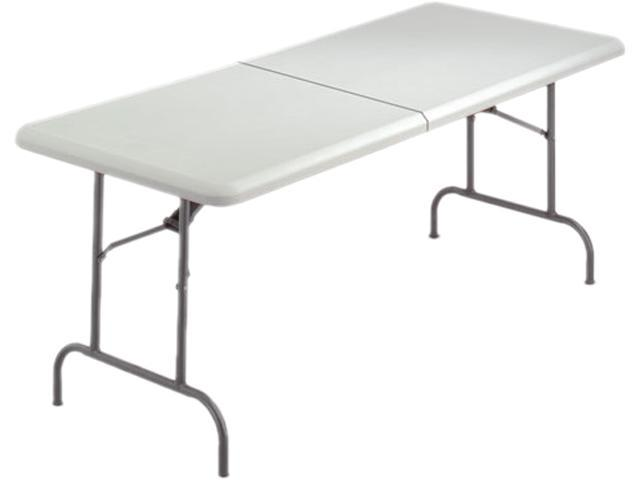 Iceberg 65453 IndestrucTable TOO Bifold Resin Folding Table, 60w x 30d x 29h, Platinum