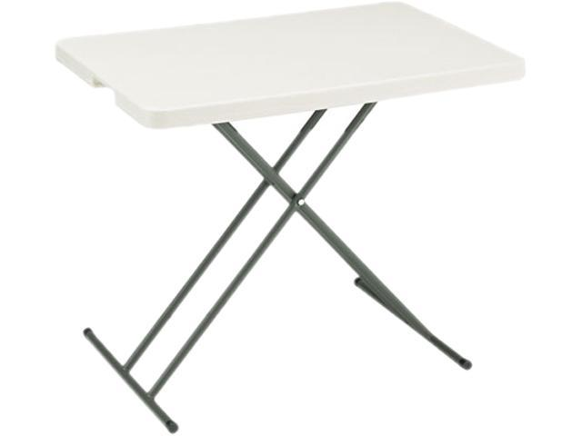 Iceberg 65490 IndestrucTable TOO 1200 Series Resin Personal Folding Table, 30w x 20d, Platinum