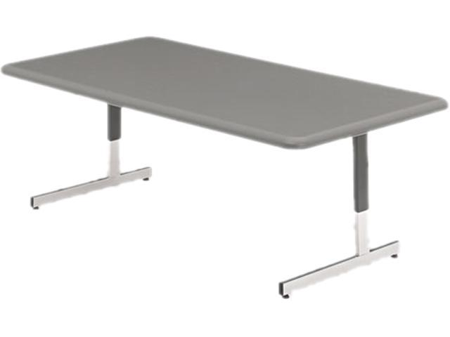 Iceberg 65737 IndestrucTable TOO Resin Adj Hgt Utility Table, 48w x 24d x 21-31h, Charcoal