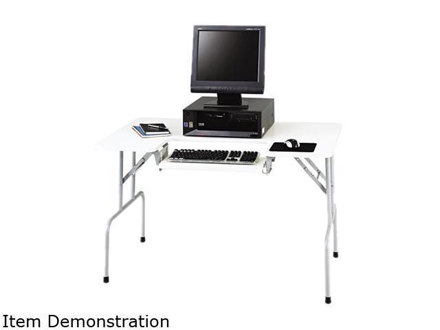 Safco 1935GR Folding Computer Table, Rectangular, 47-1/2w x 29-3/4d x 28-3/4h, Light Gray