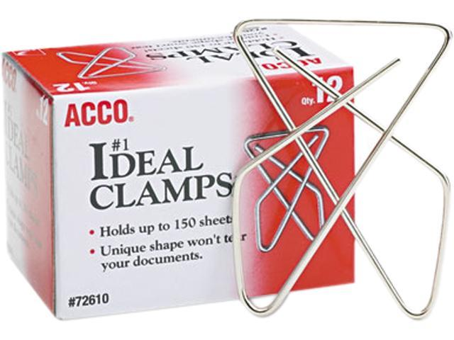 Acco 72610 Ideal Clamps, Steel Wire, Large, 2-5/8