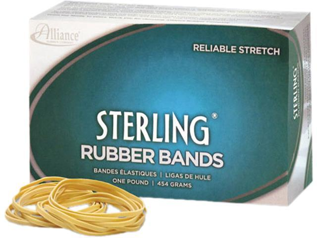 Alliance 24085 Sterling Ergonomically Correct Rubber Bands, #8, 7/8 x 1/16, 7100 Bands/1lb Box