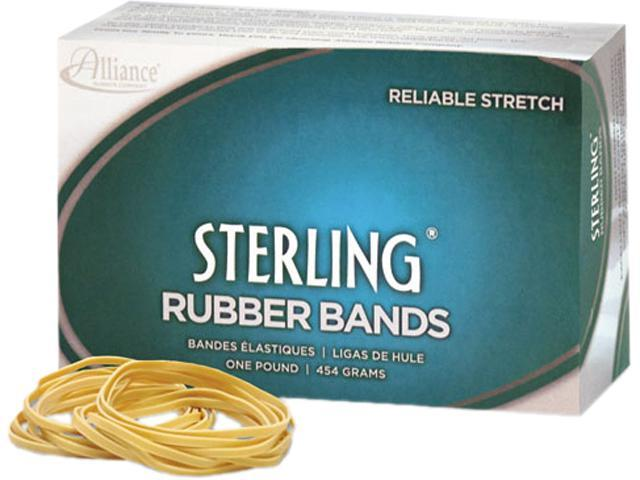 Alliance 24845 Sterling Ergonomically Correct Rubber Bands, #84, 3-1/2 x 1/2, 210 Bands/1lb Box