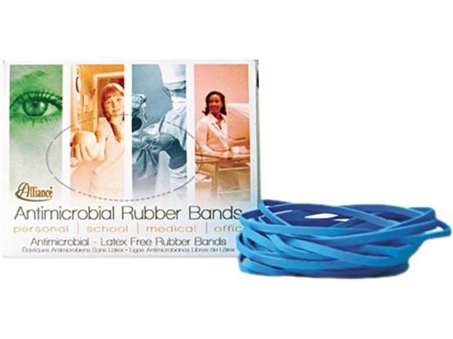 Alliance 42199 Antimicrobial Cyan Blue Rubber Bands, Size 19, 3-1/2 x 1/16, 1/4lb Box