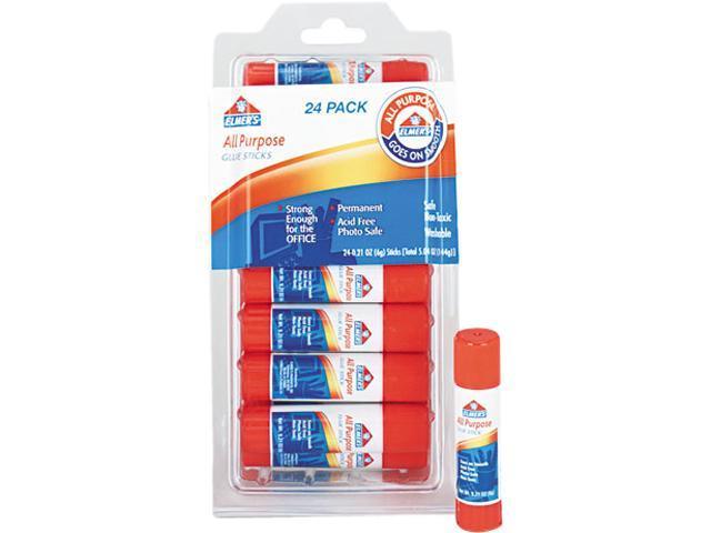 All-Purpose Permanent Glue Sticks, 24/Pack