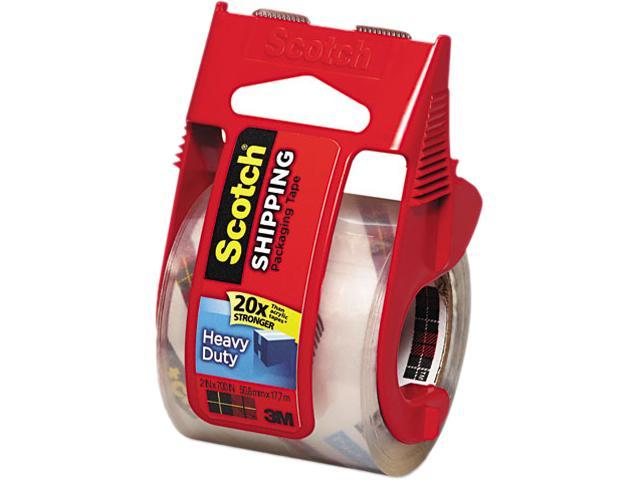 """Scotch 142 3850 Heavy Duty Packaging Tape in Sure Start Dispenser, 2"""" x 22 yds, Clear"""