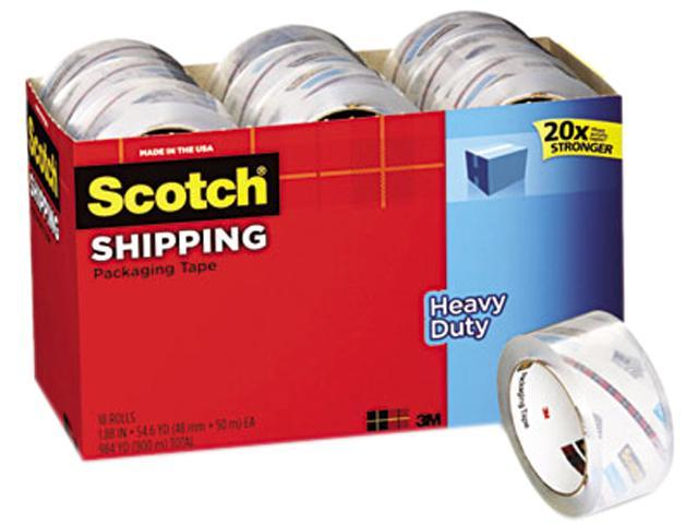 Scotch 3850-18CP 3850 Heavy Duty Packaging Tape Cabinet Pack, 1.88