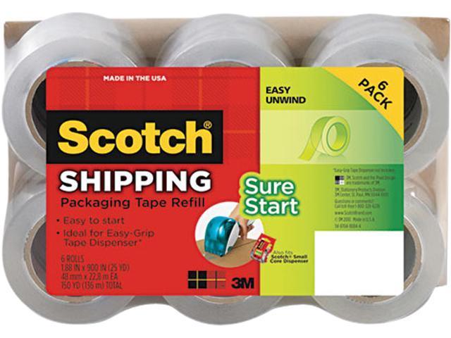 """Scotch DP-1000RF6 Refill Rolls for DP-1000 Easy Grip Tape Dispenser, 1.88"""" x 25 yds, 6 Rolls/Pack"""