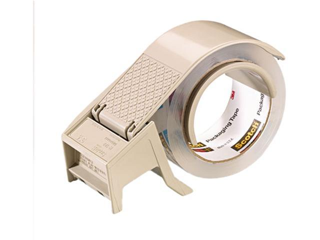 """Scotch H122 Compact and Quick Loading Dispenser for Box Sealing Tape, 3"""" core, Plastic, Gray"""