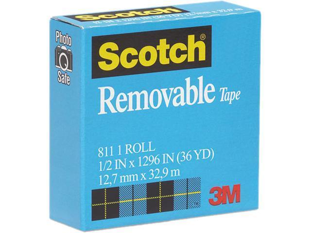 Scotch 811-12-1296 Removable Tape, 1/2