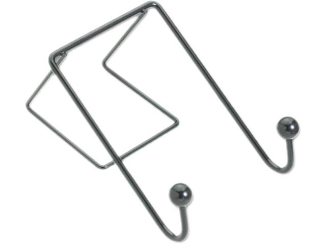 Fellowes Partition Additions Wire Double-Garment Hook, 4w x 6h, Black