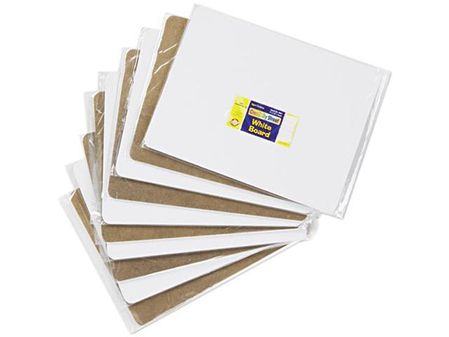 Chenille Kraft 9881-10 Kraft Unruled Student Dry-Erase Board, Melamine, 12 x 9, White, 10/Set