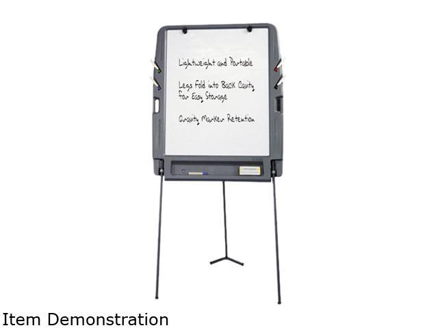 Iceberg 30227 Portable Flipchart Easel w/Dry Erase Surface, Resin, 35w x 30d x 73h, Charcoal