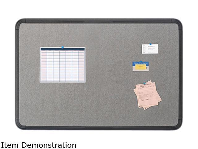 Iceberg 35031 Ingenuity Fabric Board, Resin Frame, 36 x 24, Black