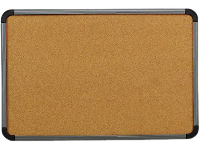 Iceberg 35047 Ingenuity Cork Bulletin Board, Resin Frame, 48 x 36, Charcoal Frame