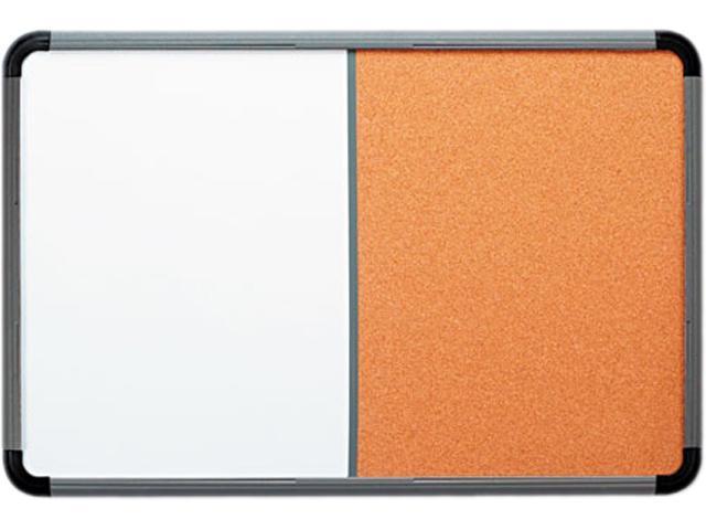 Iceberg 36037 Ingenuity Combo Dry Erase/Cork Board, Resin Frame, 36 x 24, Charcoal Frame