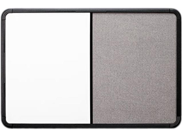 Iceberg 36041 Ingenuity Combo Dry Erase/Fabric Board, Resin Frame, 48 x 36, Black Frame