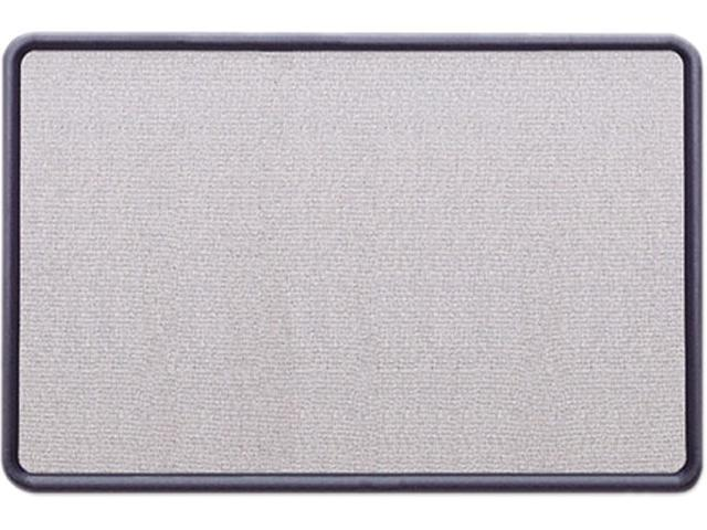 Quartet 7693BE Contour Fabric Bulletin Board, 36 x 24, Light Blue, Plastic Navy Blue Frame