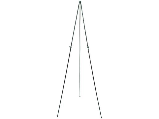 "Quartet 29E Full Size Instant Easel, 62-3/8"" Maximum Height, Steel, Black"