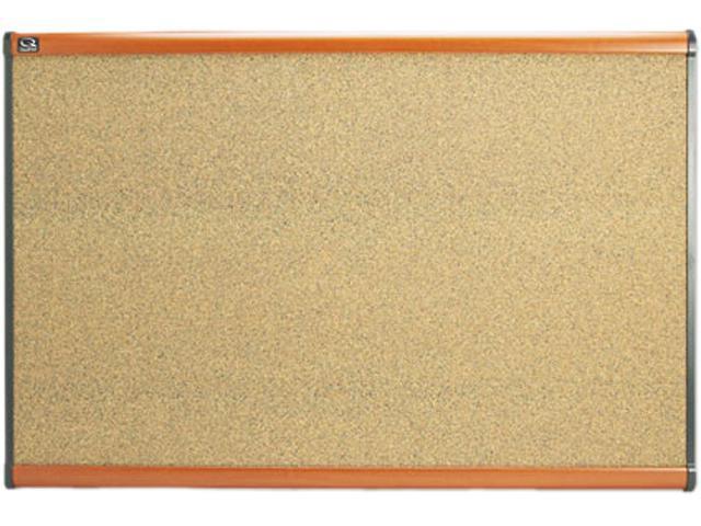Quartet B243LC Prestige Bulletin Board, Graphite-Blend Cork, 36 x 24, Cherry Frame
