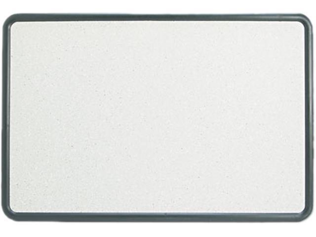 Quartet 699370 Contour Granite-Finish Tack Board, 36 x 24, Black Frame