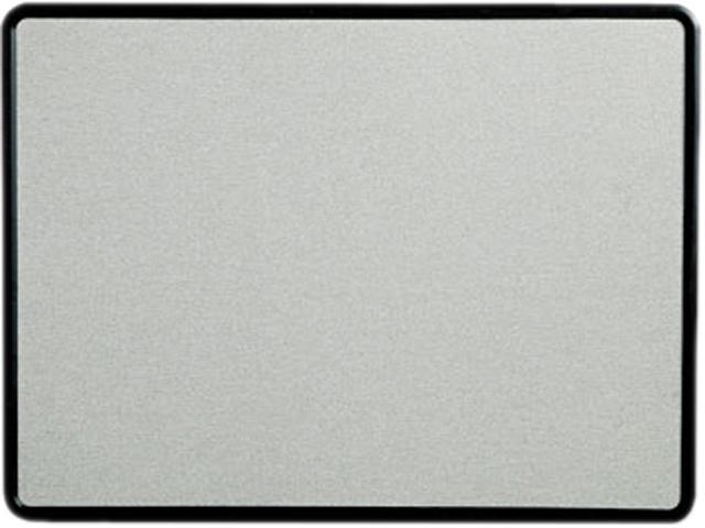 Quartet 7694G Contour Fabric Bulletin Board, 48 x 36, Gray, Plastic Graphite Frame