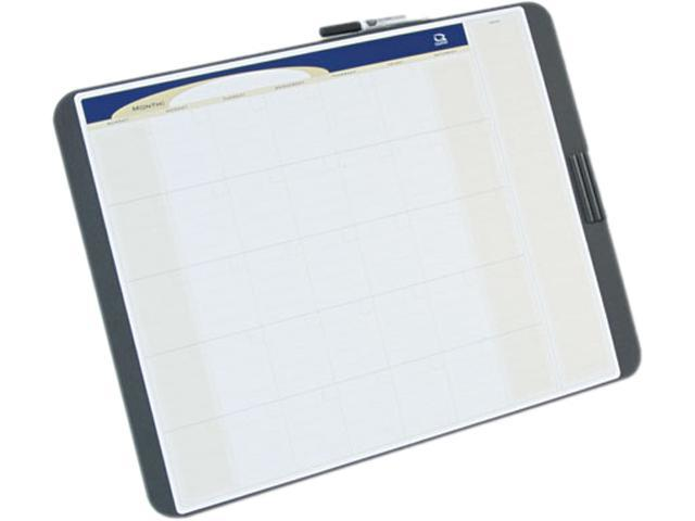 Quartet CT2317 Tack and Write Monthly Calendar Board, 17 x 23, Black