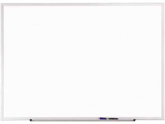 Quartet S534 Standard Dry-Erase Board, Melamine, 48 x 36, White, Aluminum Frame