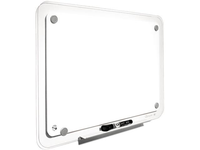 Quartet TM3623 iQTotal Erase Board, 36 x 23, White, Clear Frame, 1 Each
