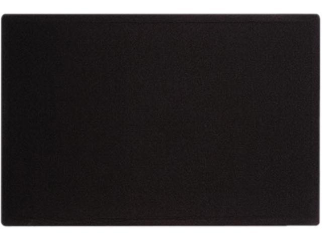 Quartet 7684BK Oval Office Fabric Bulletin Board, 48 x 36, Black